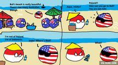 """""""Bali of Indonesia"""" (Indonesia, Australia, USA) by GlobeLearner #polandball #countryball #flagball"""