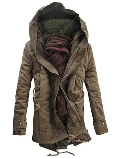 Parkas Jackets Coats Mens Winter Puffer Military Down Hooded 534AqRjL