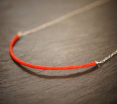 Red Coral and Sterling Silver Necklace by DakiniUK on Etsy