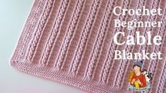 Crochet Easy Beginner Cable Blanket Tutorial You are in the right place about Crochet for beginners Here we offer you the most beautiful pictures about. Crochet Baby Blanket Free Pattern, Crochet For Beginners Blanket, Afghan Crochet Patterns, Crochet Simple, Crochet Cable, Free Crochet, Crochet Videos, Blanket Design, Crochet Projects