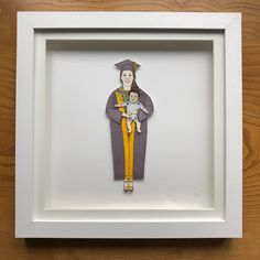 chunkydumpling shared a new photo on Etsy Deep Box Frames, Sharpie Pens, Pen And Watercolor, Portrait Illustration, Gifts For Mum, Happy Mothers Day, Paper Dolls, My Drawings, Anniversary Gifts