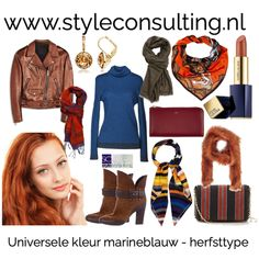 Marineblauw voor de vier seizoenstypes.   Style Consulting Warm Spring, Warm Autumn, Color Type, Seasonal Color Analysis, Season Colors, Spring Colors, Seasons, Outfits, Style