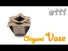 Origami VASE - Yakomoga Origami tutorial - isabella home Vase Origami, Box Origami, Origami Yoda, Origami Paper Art, Origami Dragon, Origami Fish, Modular Origami, Origami Folding, Diy Paper
