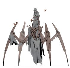 Seer by Lawrence van der Merwe Monster Design, Robot Design, Creature Concept Art, Creature Design, Fantasy Inspiration, Character Design Inspiration, Character Design References, Character Art, Dark Fantasy