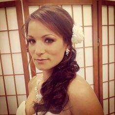 #anitagreenwaldhairstyles #weddings #halfup #makeup