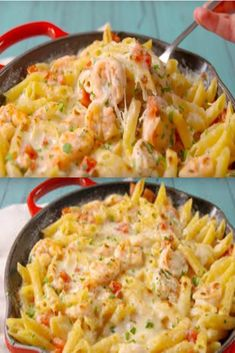 One Pot, Fish And Seafood, Carne, Quiche, Macaroni And Cheese, Sauce Alfredo, Bacon, Sauce Crémeuse, Veggies