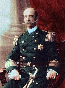 George I of Greece (1845 - 1913). Son of Christian IX and Louise of Hesse-Kassel. He married Olga Constantinovna of Russia and had nine children. He became King of Greece.