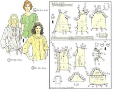 Pattern Drafting Tutorials, Sewing Tutorials, Sewing Projects, Barbie Patterns, Vintage Sewing Patterns, Blouse Patterns, Clothing Patterns, Retro Pattern, Sewing Clothes
