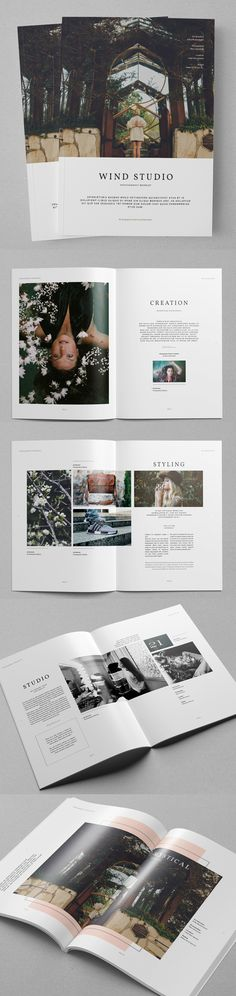Photography Portfolio Brochure Template #annualreport #booklet #brochuredesign #brochuretemplates #fashioncatalog #catalogdesign