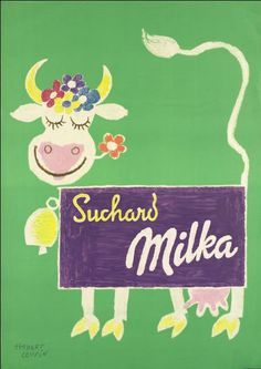 Werbeplakat Milka