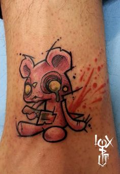 Teddy suicide - by Loxiput ( Balcksheep Tattoo ).
