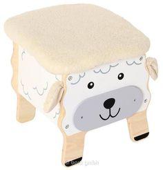 Bartl, Spielzeugkiste / Hocker Schaf aus Holz | 110976