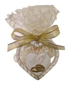 Cuoricino per anniversario di matrimonio confezionato   Nozze oro