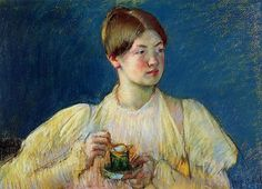 "Mary Cassatt ""The Cup of Tea I"" – 1897, pastel on tan wove paper"