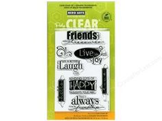 Scrapbooking & Paper Crafts: Hero Arts Poly Clear Stamp Live Life  $13