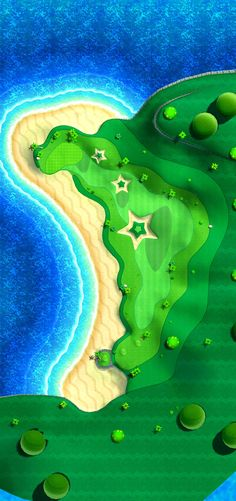 Golf Course art 12 from the official artwork set for #MarioGolf World Tour on the #Nintendo3DS. More info on #Mario 3DS games @ http://www.superluigibros.com/3ds-games