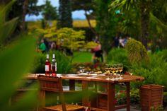 Hva med en apéritif i haven?  Rollan de By Rosé au paradis norvegien de Flor & Fjære...