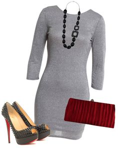 """""""Dressed Up Jersey Dress"""" by misstinamaria on Polyvore"""