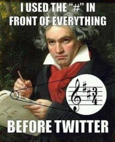 """I used the """"#"""" in front of everything before Twitter!"""