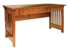 Amish Boston Mission Open Desk with One Pencil Drawer Stunning writing desk in mission style. Where can you see this in your home? Built to suit in choice of wood and finish.