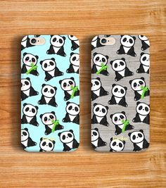 Cute Panda Pattern iPhone Case