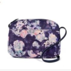 NWOT BCBGeneration BYOB crossbody bag New without tags! Floral blue faux  suede  velvet- ab86b723b8e