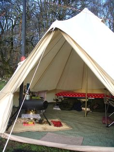 Tent Camping Glamping Ideas >>> Continue with the details at the image link. Bell Tent Camping, Camping Guide, Camping Glamping, Camping Hacks, Campsite, Outdoor Camping, Camping Ideas, Tent Set Up, Go Outdoors