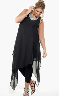 Diamante Evening Tunic | Evening Dresses | Dream Diva | Plus Size and Larger Sized Clothing