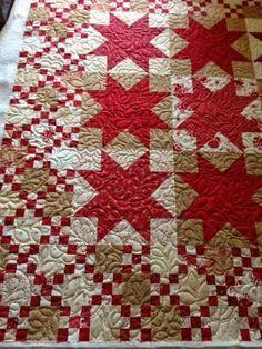 star quilt blocks with irish chain setting #quilting