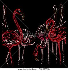 Similar Images, Stock Photos & Vectors of Flamingo Vector illustration - 120814414 Dot Art Painting, Mandala Painting, Painting Patterns, Flamingo Vector, Flamingo Art, Dolphin Craft, Sequin Crafts, Paint Chip Art, Animal Silhouette