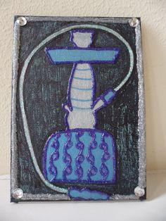 Glitter Hookah Canvas Painting by MamaCassQueen on Etsy, $15.00