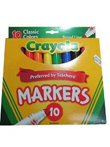 Crayola 10ct Classic Broad Line Markers -   - http://www.toyrange.com/toys-games/crayola-10ct-classic-broad-line-markers-com/