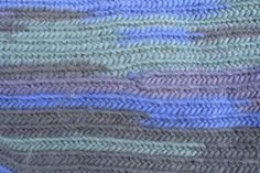 Close-up of wool mobius cowl