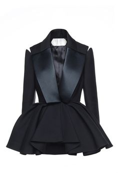 Smoking peplum jacket by DICE KAYEK for Preorder on Moda Operandi