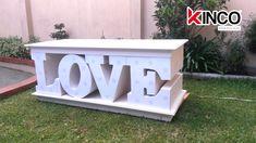 Mesa LOVE para bodas  #kincoinnovacion #LetrasGigantes #love #boda