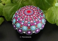 Image of Mandala painted stone Boho 3