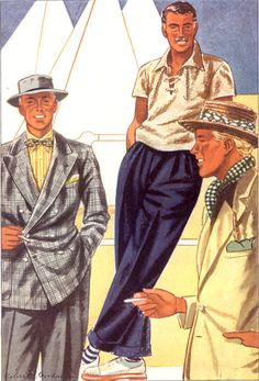Check the socks! :-) L._Fellows_1935_stringshirt.jpg (421×620)