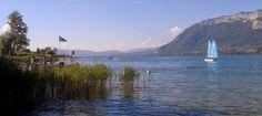 Dyane: Photo : Lac d'Annecy quand un voilier glisse sur l...