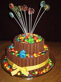 Kit kat cake - Bobby would love this!!