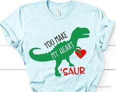 Dinosaur Valentines, Valentines Day Shirts, Valentines For Kids, Slogan Tshirt, S Shirt, Dinosaur Shirt, Vinyl Shirts, Love Shirt, Cricut Creations