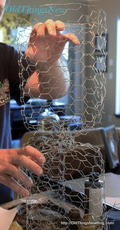 how to make chicken wire cloches