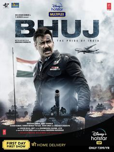 After the blockbuster success of Tanhaji - The Unsung Warrior, @ajaydevgn comes with yet another film which is based on a true story. Really looking forward to see #Bhuj on  @DisneyPlusHS . Latest Hollywood Movies, Latest Movies, Movies Coming Soon, War Film, 2020 Movies, Hd Movies Online, It Movie Cast, Upcoming Films, Disney Plus