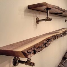 """3,325 Likes, 64 Comments - barnboardstore.com (@barnboardstore) on Instagram: """"Another shot of the live edge black walnut shelves we made for a repeat client in Toronto.  We…"""""""