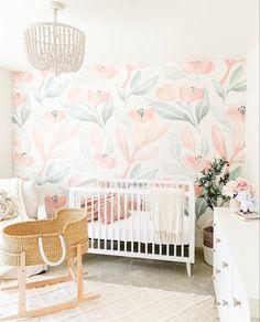 Large Floral Wallpaper, Pastel Color Wallpaper, Watercolor Wallpaper, Colorful Wallpaper, Watercolour, Floral Bedroom, Floral Nursery, Nursery Neutral, Nursery Wall Decor