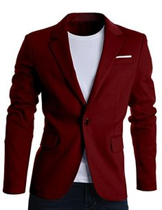 FLATSEVEN Mens Slim Fit Casual Premium Blazer Jacket Wine, XL (Chest 44) FLATSEVEN http://www.amazon.com/dp/B00ST1ELC0/ref=cm_sw_r_pi_dp_14hLwb0EXHD8Z #classic #wine