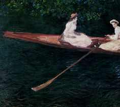 The Pink Skiff, Boating on the Ept by @claude_monet #impressionism
