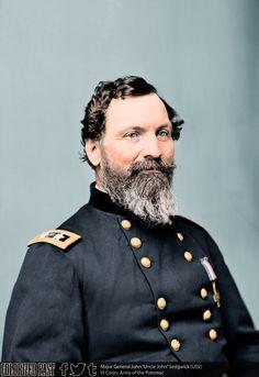 Major General John Sedgwick (USV) John Sedgwick was born in Cornwall, Connecticut, on 13 September His grandfather, John Sedgwick, served as a. American Revolutionary War, American War, American History, Battle Of The Wilderness, Battle Of Fredericksburg, Battle Of Antietam, United States Military Academy, Gettysburg Battlefield, Stonewall Jackson