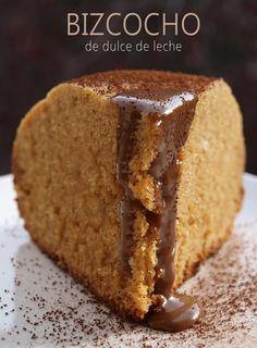 Bocados dulces y salados: BIZCOCHO DE DULCE DE LECHE