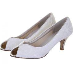 Zapatos de Novia Peep Toe modelo Martha de Rainbow Club ➡️ #LosZapatosdetuBoda #Boda