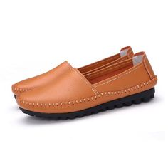 Gender: Women Upper Material: Full Grain Leather Feature: Breathable Shoe Width: Medium(B,M) Closure Type: Slip-On Outsole Material: Rubber Heel Type: Flat with Model Number: CN6121639 Season: Spring/